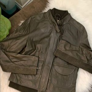 Olive Green Genuine Leather Jacket